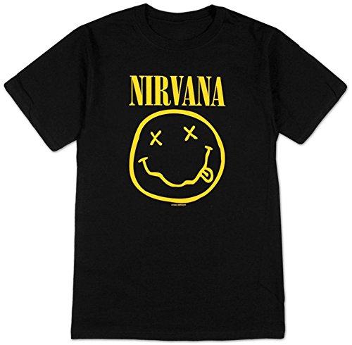 Nirvana Smiley Face - Nirvana Smiley Face Smile T-Shirt (Large)