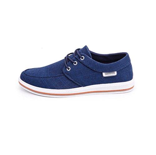 traspiranti selvaggia vecchia da scarpe di Scarpe traspirante tela traspirante scarpe stoffa tendenza WFL uomo Blu casual Pechino in qvtBx8wn6p