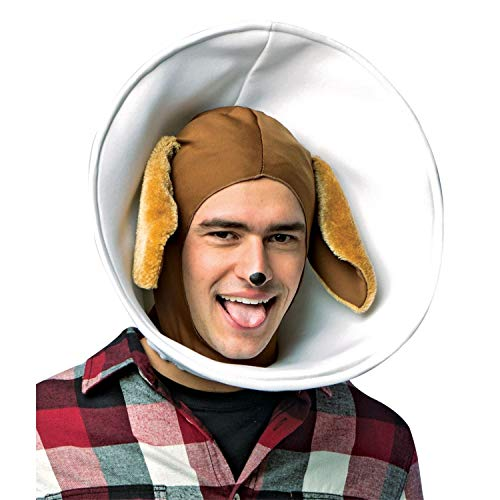 Rasta Imposta Men's Dog In Cone Headpiece Funny Theme Party Halloween Costume Accessory