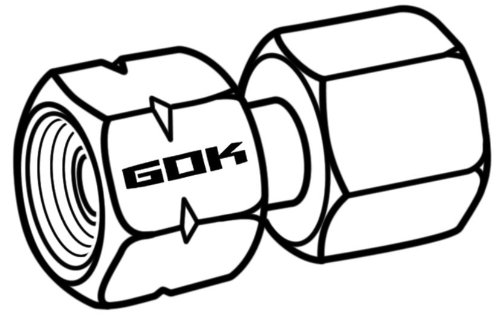 GOK Verbindungsst/ück G 1//4 LH-/ÜM x RST 8 90/° SB