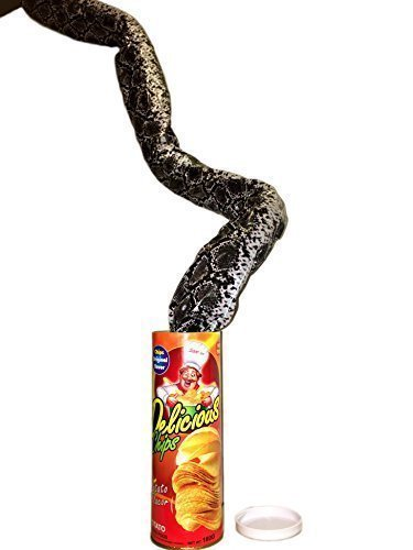 VANVENE Potato Chip Snake In A Can Gag Gift Prank Large Size for April Fools' Day and Halloween  -