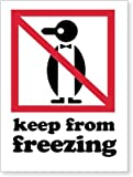 keep from freezing label - Keep from Freezing, Paper Labels, 500 Labels / Roll, 6