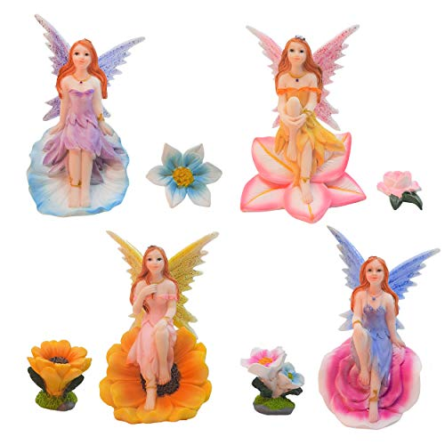 Simple Creativity Fairy Figures for Fairy Garden, Flower Fairies Indoor and Outdoor Decor Accessories