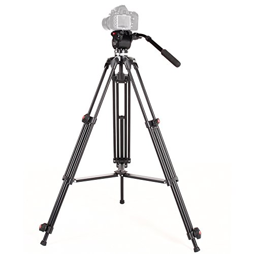 ASHANKS DSLR Camera Tripod Professional Heavy Duty Video Camcorder Tripods Stand with Fluid Drag Head by ASHANKS