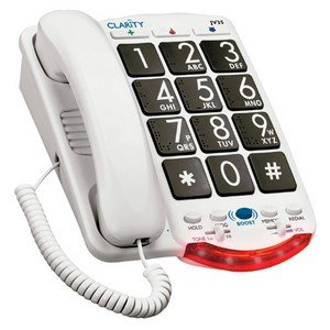 Clarity JV-35B AMERPHONE AMPLIFIED CORDED BIG BUTTON (Amplified Corded Big Button Phone)