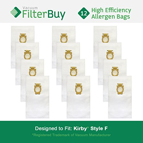 12 FilterBuy Kirby Style F Vacuum Bags. Kirby Universal Vacuum Bags, Kirby Part # 204808. Designed by FilterBuy to fit Kirby Upright Vacuum ()