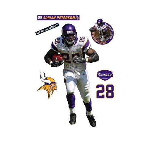 Fathead Adrian Peterson Minnesota Vikings Wall (Adrian Peterson Wall Graphic)