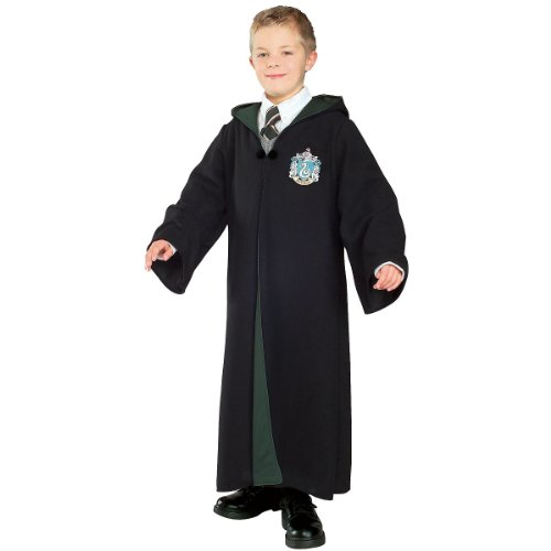 Malfoy Draco Costume (Rubie's Costume Co HP4-Deluxe Slytherin Robe Costume, Large)