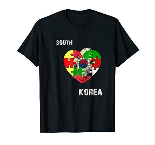 South Korean American Flag T-shirt South Korea Usa korea tee ()