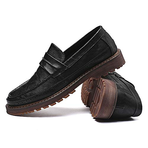 lavoro semplici Nero Pelle Xiaojuan Dimensione Business Uomo Color Classic da Scarpe Scarpe uomo flessibili uomo Classic 43 EU da da e Oxford Nero shoes qvHTwvrt