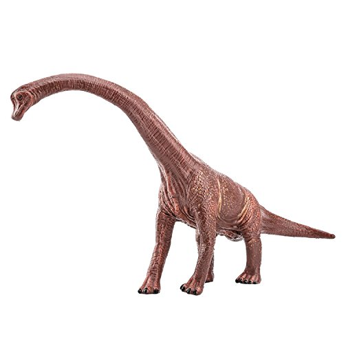 Zooawa Brachiosaurus Dinosaur Figure Toy - Dark Brown -