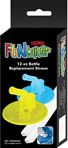 Thermos Replacement Straws for 12 Ounce Funtainer Bottle Clear F401RS6