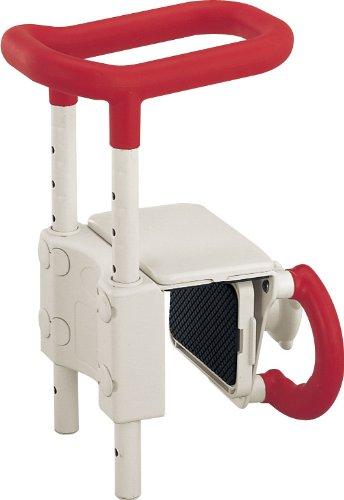 アロン化成 安寿 高さ調節付浴槽手すりUST-130 レッド B00142R18C  レッド