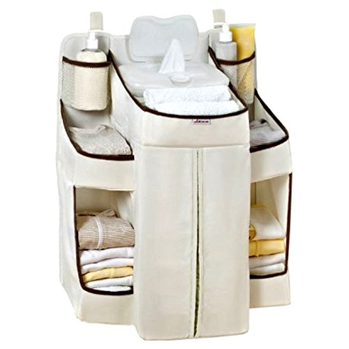 Diaper Holder Organizer for Changing Table, Organic Diaper Changing Station Organizer for Girl and Boys & E-Book by center