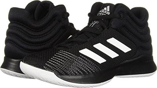 adidas Unisex Pro Spark 2018 Basketball Shoe, Black/White/Grey, 3.5 M US Big Kid