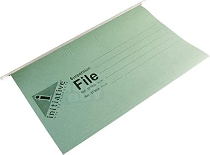 A4 Green Hanging Suspension Files Tabs Insert Filing Cabinet Folders
