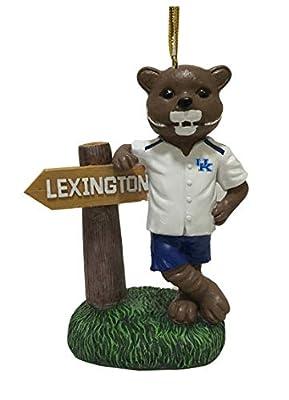 Kentucky Wildcats Mascot with Lexington Sign Christmas Ornament