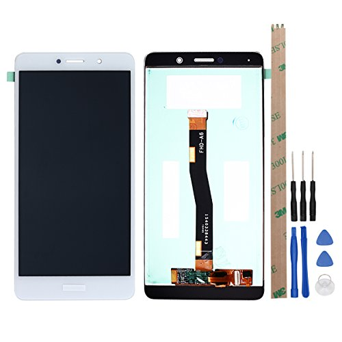 HYYT LCD Display and Touch Screen Digitizer Glass Replacement Full Assembly for Huawei GR5 2017 (White)