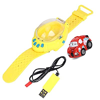 2.4G Rechargeable Watch Wireless Remote Control Car Electric Mini Racing Vehicles Toys with USB Cable for Kids Gifts : Baby