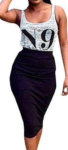 crop top pencil skirt set - 8