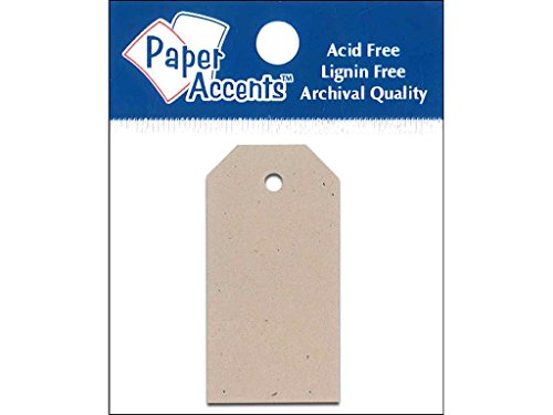 Accent Design Paper Accents 0.875x1.75 Craft Tags Kraft