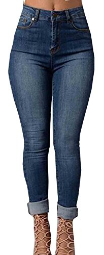 Uncinba Women's Sexy Skinny Jeans Straight Pencil Pants