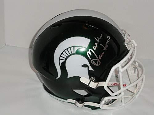 Mark Dantonio Autographed Signed Memorabilia Michigan St. Spartans Satin Green Full -Size Helmet - JSA Authentic