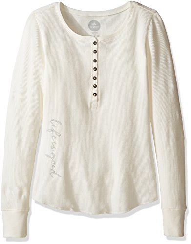 Life is good Waffle Henley Lig Script T- - Script Womens Long Sleeve Shopping Results