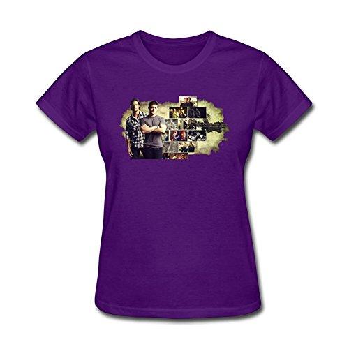 Women's Supernatural Winchester Bro Sam And Dean 2 Short Sleeve T-Shirt