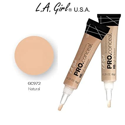 L.A. Girl Pro Conceal HD 972 Natural (2 Pack) Face Concealer at amazon