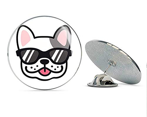 - BRK Studio Cute Adorable Kawaii Sweet French Bulldog Head Cartoon, Cool Sunglasses Round Metal 0.75