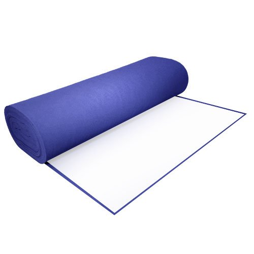 Acrylic Felt by the Yard with Adhesive 36'' Wide X 2 YD Long: Royal Blue by The Felt Store