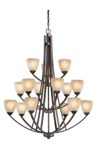 Vaxcel 15 Light Chandelier HS-CHU015BW 15 Light Chandelier, 49.25