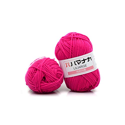 angelbless 4 Shares Combed Milk Cotton Yarn Comfortable Wool Blended Yarn Apparel Sewing Yarn Hand Knitting Scarf Hat Yarn