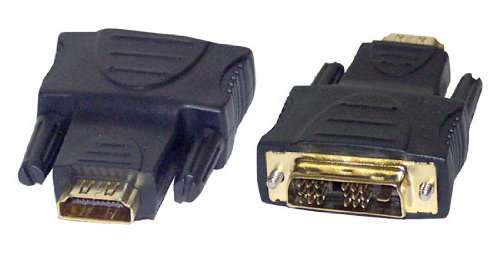 HDMI to DVI Adapter - DVI Male 18 Pin to HDMI Female 19 Pin w/ 24K Gold-Plated Connectors, PVC Jacket, Hook Up Blu-ray Player, TV Box, Game Console to TV, Monitor, HDTV and Projector - Pyle PHFIDM