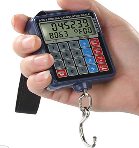 LYC 110lb 6 In 1 Digital Hook Scale Multifunction Pricing Scale Calculator For Market Dedicated Portable Gift Scale
