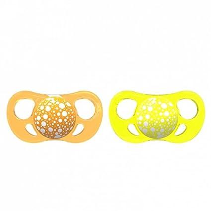 Twistshake 78090 - Chupete, color naranja amarillo