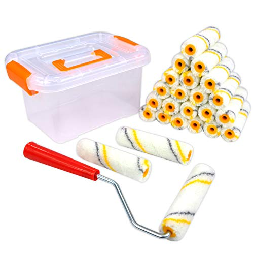 - Super Value 26 Piece Multi-Use 4 inch High Density Premium,Mohair Mini Paint Roller,Paint Roller,Home Tool kit,Paint Roller frme,Paint Roller Refill,Paint Roller Edger,Paint Roller for Ceiling,