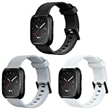 AIUNIT Bands Compatible for Fitbit Versa Smart Watch, Accessory Sport Bands Replcement Wristb