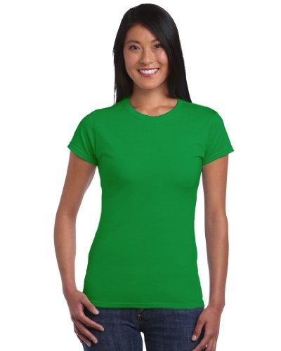 Gildan T-Shirt 'Fitted Ring Spun' 64000L,Farbe:Irish Green;Größe:S