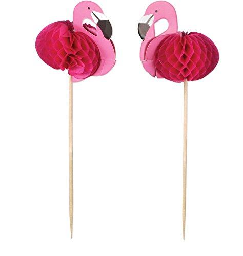 "7"" Flamingo Picks-Value 2 pack- 48 picks for decorating food, snacks, and drinks (Flamingo Picks)"