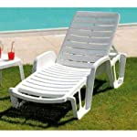 Tomaino-Lettino-da-Giardino-Spiaggia-Bordo-Piscina-in-plastica-impilabile-Fisso-3-Posizioni