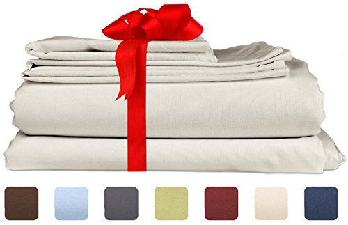 Twin Size Sheet Set - 3 Piece Set - Hotel Luxury Bed Sheets - Extra Soft - Deep Pockets - Easy Fit - Breathable & Cooling - Wrinkle Free - Comfy – Light Grey Bed Sheets – Twins Sheets - 3 PC (Lights Big Lots Christmas)