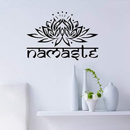WJYdp Pegatinas De Pared 1 Pieza Flor De Loto Tatuajes De De Yoga ...