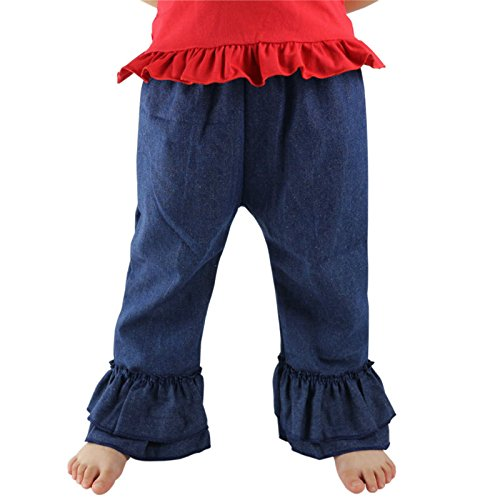 Ruffle Flare Jeans - 4