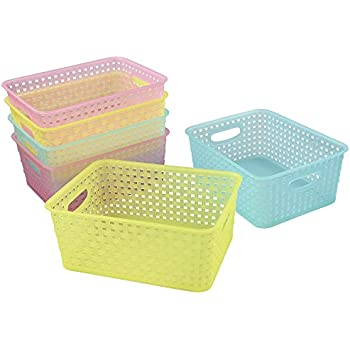 Charmant Cand Plastic Storage Baskets/Bins For Closets, Drawers, 6 Pack
