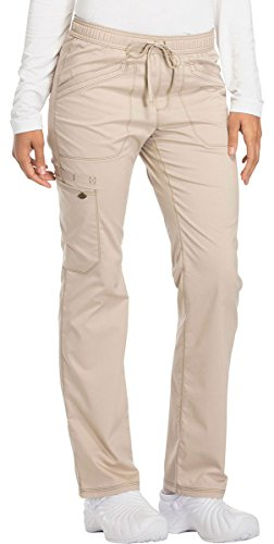 Dickies Essence Women's Straight Leg Drawstring Scrub Pant Medium Khaki
