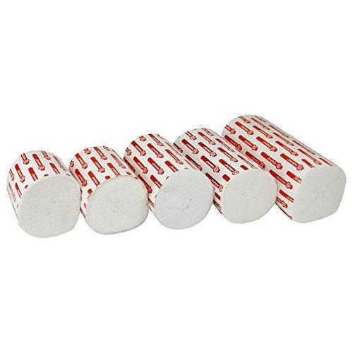 5 Rollen Nobapad Polsterbinden aus synthetischer Watte in verschiedene Größen (3 m x 6 cm)