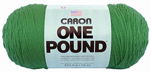 Caron  One Pound Solids Yarn - (4) Medium Gauge 100% Acrylic - 6 oz -  Grass Green  -   For Crochet, Knitting & Crafting (Green Needle Grass)