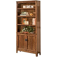Ashley Furniture Signature Design - Cross Island Bookcase - 3 Shelves - Vintage Casual - Medium Brown